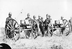 Whatever happens, we have got The Maxim gun, and they have not.  -Belloc  {British Gatling guns in Zulu War, 1879}