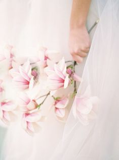 magnolia blossoms bouquet from Spring wedding shoot in Canada Wedding Shoot, Wedding Blog, Destination Wedding, Wedding Planning, Magnolia Bouquet, Magnolia Wedding, Magnolia Trees, Wedding Centerpieces, Wedding Bouquets