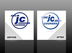 Logo design - JC Couriers Ltd. Logo Remedy - Visual treatments and cures for business. http://www.logoremedy.co.uk/