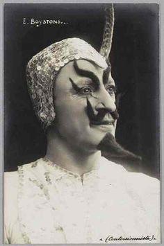 circus freak - a possible culprit? that's some interesting facial hair.