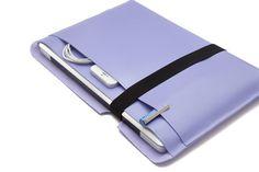 Macbook AIR Sleeve / MacBook Air Case / MacBook Air Bag / 11 MacBook Air Carrying Case / 13 MacBook Air - All Purple. Made by SnuggaBugga      This