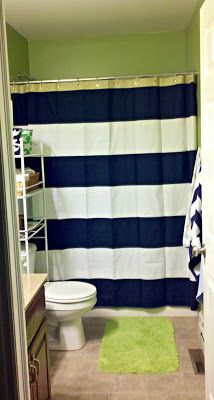 My second favorite shower curtain. First favorite is still that big navy blue ship on the white back drop.