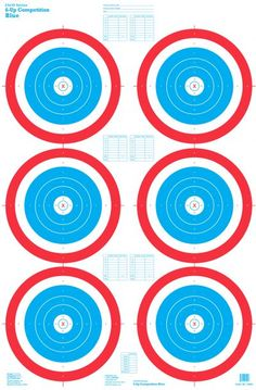 100 Yd Rifle Target – a paper shooting target featuring red diamonds with grids. Target size: x Must order in sets of 250 targets. Best pricing when purchasing at least 1000 targets.