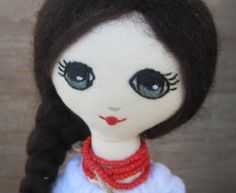 Ukrainian doll gift for her Valentines day gift by GabYhandmade