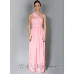 Madison Dress by White Velvet | One Shoulder Navy Blue Bridesmaid... via Polyvore