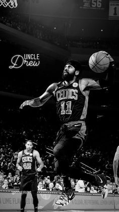 boston celtics - 4 Stars & Up Kyrie Irving Celtics, Irving Nba, Irving Wallpapers, Nba Wallpapers, Illini Basketball, Basketball Legends, Sports Basketball, Basketball Players, Basketball Quotes