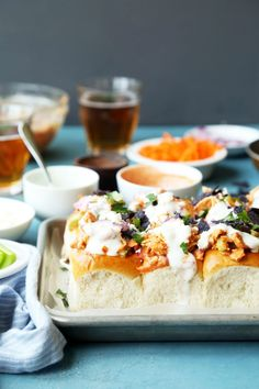 Loaded Buffalo Chicken Sammies - The Candid Appetite
