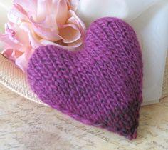 Purple knitted heart