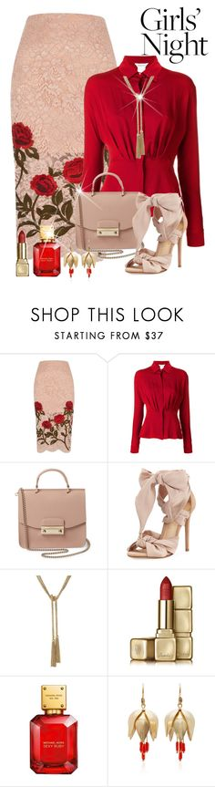"""Hey Besties: Girl's Night Out"" by shamrockclover ❤ liked on Polyvore featuring River Island, MaxMara, Furla, Alexandre Birman, Guerlain, John Lewis and Annette Ferdinandsen"
