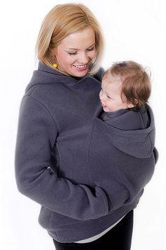 Nosici bunda pro maminky šedé barvy