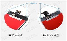 Comparaison entre écran iPhone 4 et 4S
