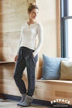 Buy Fat Face Grey Marl Star Pyjama Bottom from the Next UK online shop 5a53aeeb7