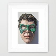 Super Sidekick Framed Art Print by asprisvisualart Can Design, Framed Art Prints, Sculptures, Halloween Face Makeup, Creatures, Superhero, Sculpting, Superheroes, Sculpture