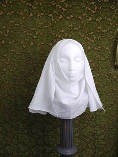Medieval Veil and Wimple Set women or girls. Medieval