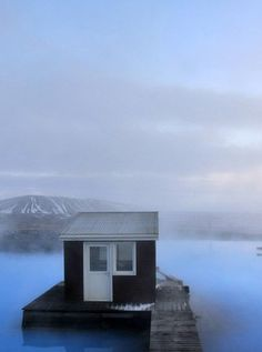 The Nature Baths of Myvatn in Iceland, boast summers of midnight sun and winters of impressive northern light shows. The milky blue waters are a little piece of heaven in an even more beautiful surrounding landscape >>>> Oh I'd love to have this thermal hot spring all to myself!