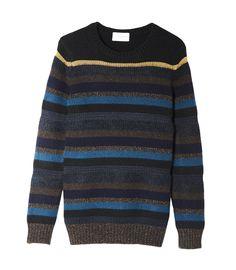Bayadere stripes crew neck pullover - Women - Eric Bompard
