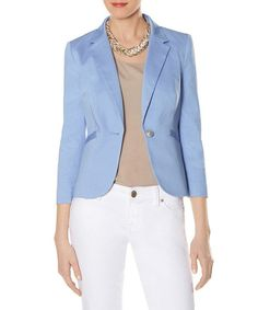 Take a look at the Eyeshadow Blue One-Button Blazer on #zulily today!