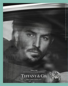Justice Joslin appears in a watch campaign for Tiffany & Co.