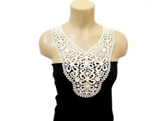 Crochet Necklace, Lace necklace, FREE SHIPPING,Handmade, Cotton Lace Collar, On Sale, Woman Accessories, Cream, Floral Necklace, Applique