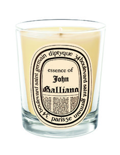 Essence of John Galliano Candle- my favourite fragrance in the world! Wood polish, prunes, hay and smoke...