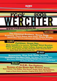 Affiche 2005 - Rock Werchter #RW05