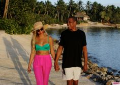 Totally jealous of Beyonce and Jay-Z's tropical vacay.