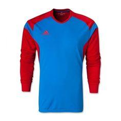 d702242d33b adidas Men s Precio 14 GoalKeeper Jersey Bright Blue Collegiate Red Goalkeeper  Shirts