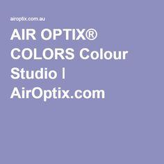 AIR OPTIX® COLORS Colour Studio ǀ AirOptix.com