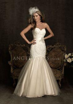 Mermaid Lace Sweetheart Sleeveless Floor Length Zipper up Wedding Dress