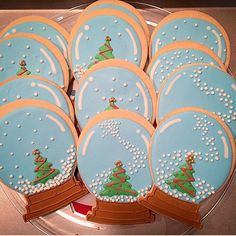 snowglobe cookies royal icing - Google Search