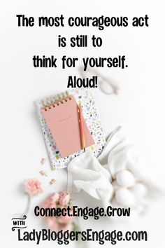 The most courageous act is still to think for yourself. Unicorn Hair Color, Alcohol Is A Drug, Courage Quotes, Stress Disorders, Entrepreneur, Inspirational Quotes, Motivational, Encouragement, About Me Blog