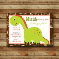 Hey, I found this really awesome Etsy listing at https://www.etsy.com/listing/150752445/dinosaur-party-boy-or-girl-birthday