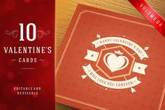 Valentine's Day Greeting Cards by Vasya Kobelev on Creative Market