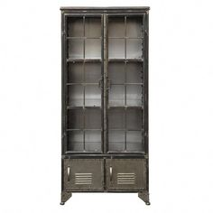 Store and display your favorite items in industrial style with the Studios Four Door Metal Cabinet , made of sturdy metal in a trendy gray finish. Modern Industrial Furniture, Industrial Style, Kitchen Industrial, Storage Cabinets, Tall Cabinet Storage, Display Cabinets, Smart Tiles, Door Displays, All Modern
