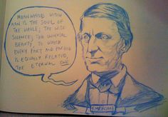 Transcendentalism. This quote comes from Henry David Thoreau who is one of the first transcendentalists. He was one that had something to say in ways that make us think and use our mind to figure out what the message is, in between the lines.