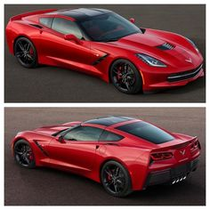 2 angles of the glorious stingray - corvette!