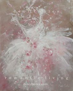 "my beautiful ""Tutu Bouquet"" Painting is availiable at www.debicoules.com"