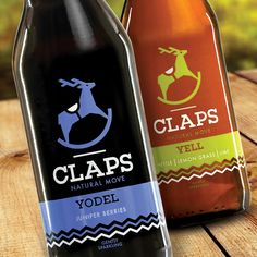 CLAPS natural soft drink / napój naturalny #packaging