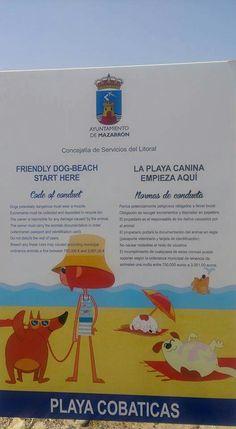 Playa canina de Mazarrón