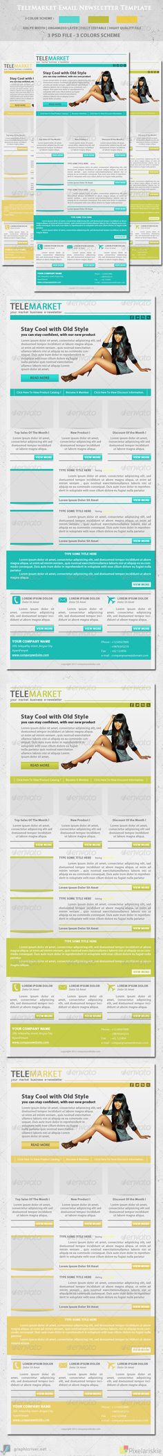 Clean Business Email Newsletter Template Newsletter templates - employee newsletter template