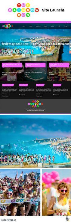 Rainbow Run WordPress Site Launch - WordPress Developer In 2015, Web Development, Ireland, Wordpress, Product Launch, Rainbow, Running, Play, Website