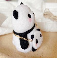 Panda Felting Kit Needle Felting Kit Panda Felting Kits | Etsy All You Need Is, Beginner Felting, Needle Felting Kits, Computer Bags, Cute Panda, Starter Kit, Wool Felt, Anime Guys, Make It Yourself