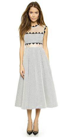 Leah Lucille Self Portrait Mesh Dress