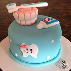 This almost looks too good to eat #dental #cake