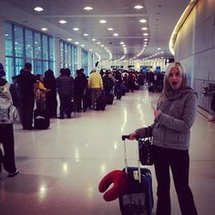When you arrive early to the airport, and are rewarded with a line like this in return.   23 Airport Moments That Will Test Your Will To Live