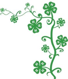 4-H, it grows on you. Float with plants on it....not horses but great for a new 4-H Horse Flyer