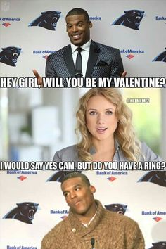 Nc Panthers, Bank Of America, Hey Girl, Be My Valentine, Nfl, Humor, Sayings, Sports, Movie Posters