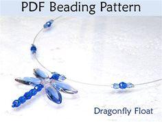 Dragonfly Float Necklace Beading Tutorial - Beading Daily  http://www.beadingdaily.com/media/p/174407.aspx