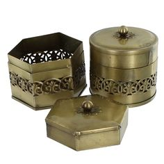 Brassy Trinket Box £4.50 #storage #home #accessory #brass #box