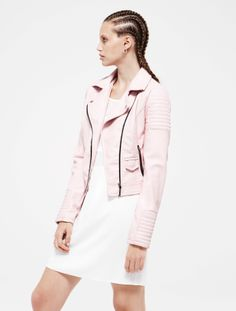 Primark Spring/Summer 2014 love the pastel pink biker jacket. 2014 Fashion Trends, Lookbook, Summer Hats, Fashion Pictures, Pretty Outfits, Pretty Clothes, Spring Summer Fashion, Nice Dresses, Spring Summer